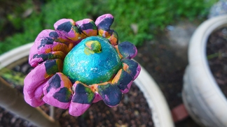 "garden art by Shaykayla at Patchwork ""Cupcake Flower"""