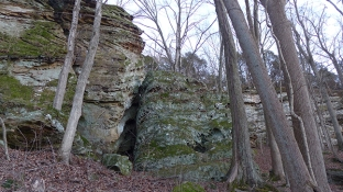 rock face at Ferne Clyffe State Park