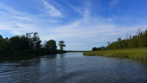 Crooked River from Pickerel Lake
