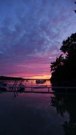 Sunset over Crooked Lake