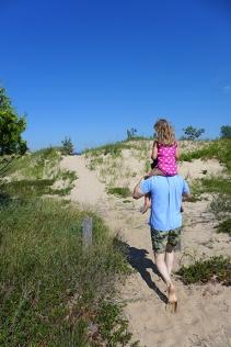 Lake Michigan dunes at Sturgeon Bay