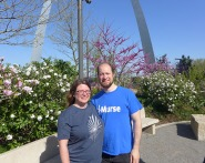 John and I at the arch