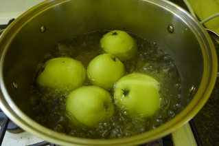 boiling the apples