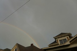 rainbow over my house