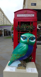 Bath Owl and phone booth