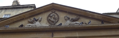 pigeons and Victorian carvings