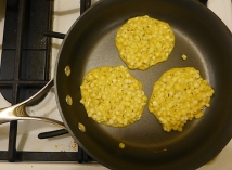 cook the corn fritters