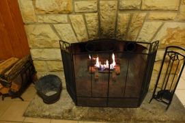 cozy fire inside