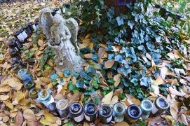 the broken angel surveys the leaves
